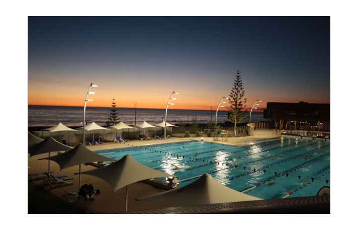Scarborough Beach Pool Light Pole Project